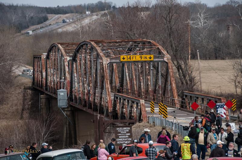The Route 66 Bridge over the Gasconade River near Hazelgreen consists of a three-span through truss structure which was designed by the Missouri Highway Department and fabricated by the Illinois Steel Company of Chicago between 1922 and 1924