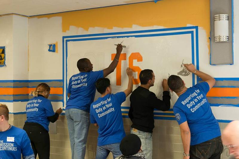 The Mission Continues is helping launch an effort to help veterans reintegrate into communities and improve their economic opportunities. Here, members of the St. Louis chapter participate in a service project.