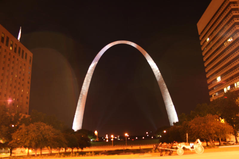 The Gateway Foundation had to negotiate for some time with the U.S. Parks Service before it could illuminate the Gateway Arch.