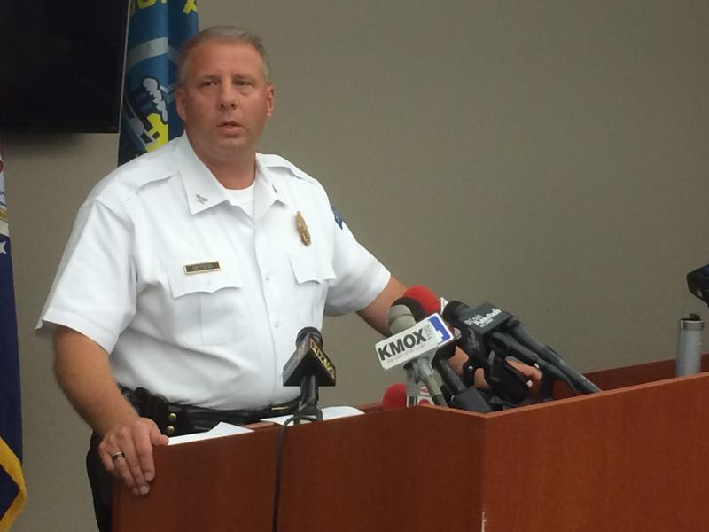 St. Louis Police Chief Sam Dotson speaks to the press on Friday afternoon after Mansur Ball-Bey's preliminary autopsy.