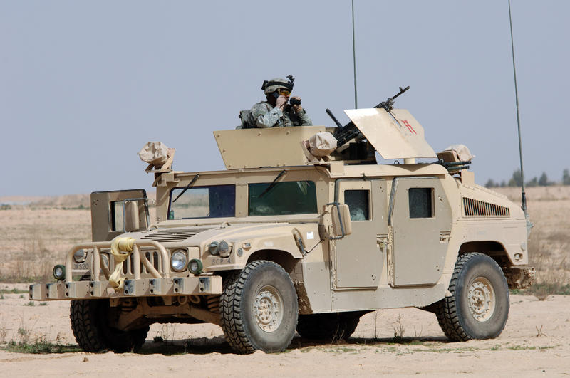 U.S. Army soldiers used Humvees in Iraq.