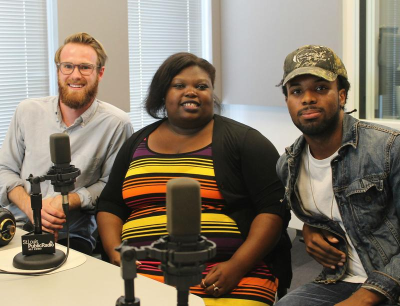 Creative director Andrew Johnson (left), journalist Dominique Shields (middle), and illustrator Najee Person (right) are members of On the Money Magazine's core team.