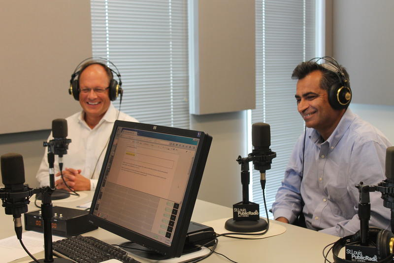 "Michael Moehn (left) and Ajay Arora (right) joined ""St. Louis on the Air"" in studio."