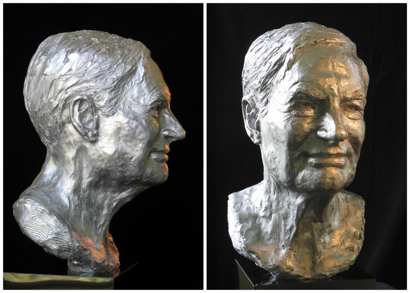 Sculpture of David Mesker by Dorothy Haase