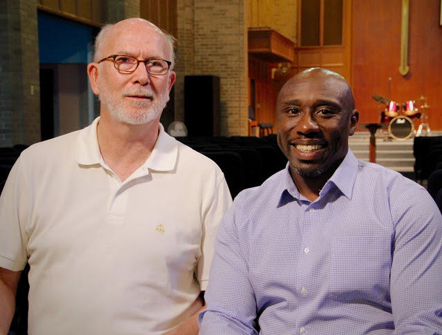 Rev. Steve Lawler of St. Stephen's Episcopal and Rev. F. Willis Johnson Jr. of Wellspring Church teamed up to organize a week of workshops at Wellspring ahead of the anniversary of the death of Michael Brown.