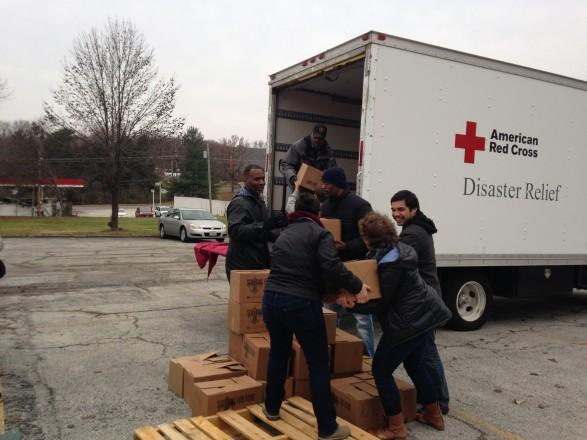 One of the United Way of Greater St. Louis' donations in the aftermath of the events in Ferguson went to providing boxes of food to area families impacted by the unrest.
