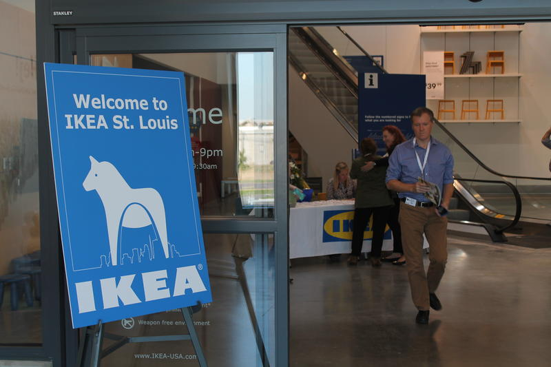 A sign greets visitors to the main entrance of the Ikea store at Vandeventer Avenue and Forest Park Avenue opening 9 a.m. Sept. 30. The 380,000 square-foot store is the Swedish company's 41st U.S. location.