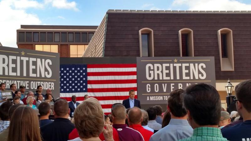 Eric Greitens kicks off his campaign for Missouri governor at Westport.