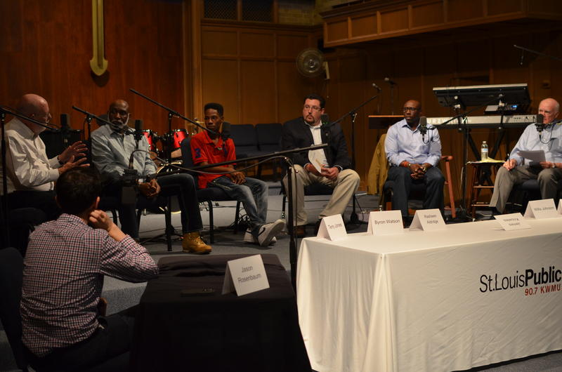 Panelists at the Ferguson Commission: Where Do We Go From Here? panel on Sept. 21 at Wellspring Church in Ferguson.
