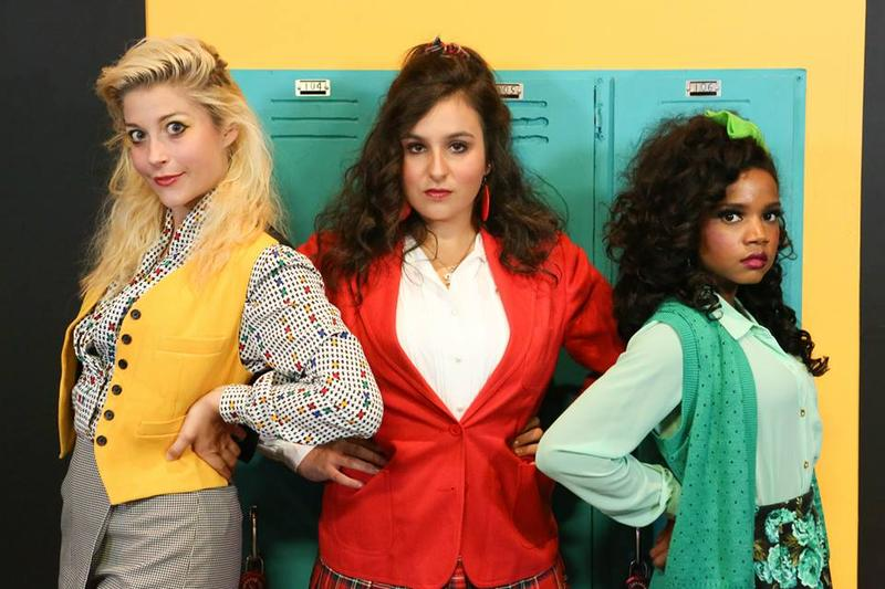 Larissa White, Sicily Mathenia and Cameisha Cotton as the Heathers in New Line Theatre's