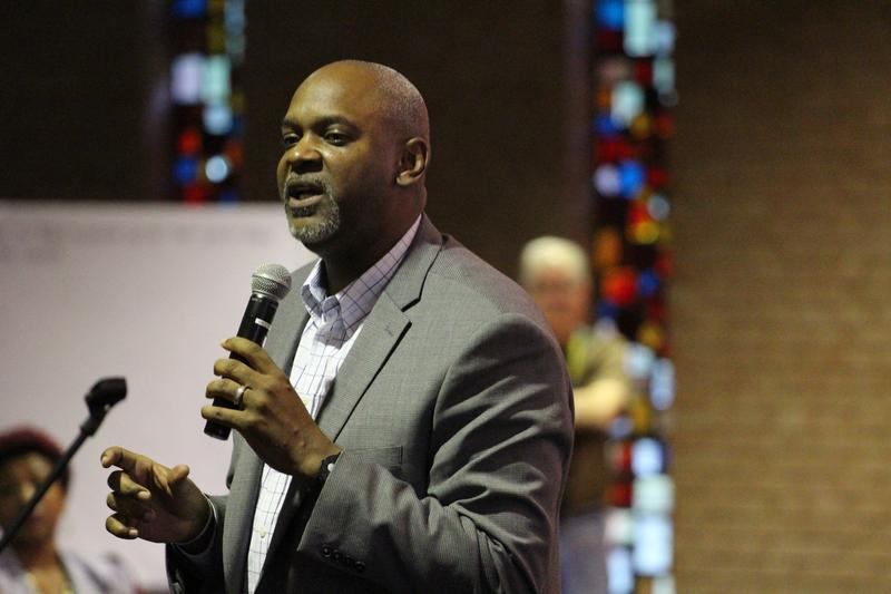 Exactly a year after he attended a raucus Ferguson City Council meeting, Cincinnati Pastor Damon Lynch returned to the city to provide insight into his city's reconcilation process.