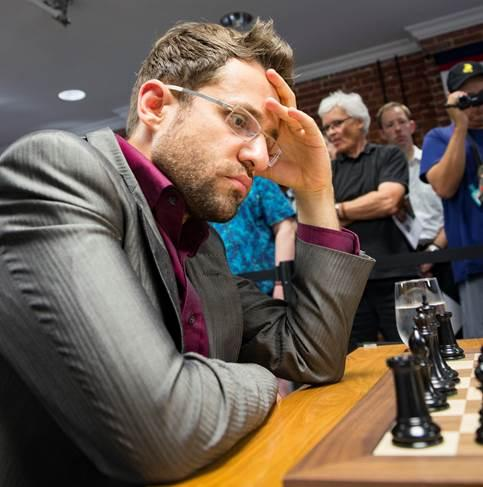 Levon Aronian during Round 9 of the Sinquefield Cup