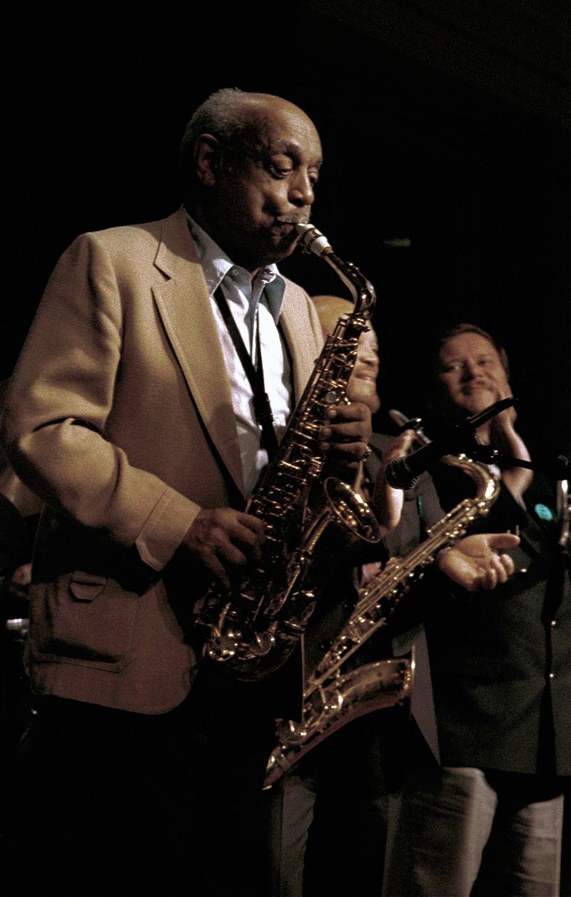 Benny Carter playing saxophone