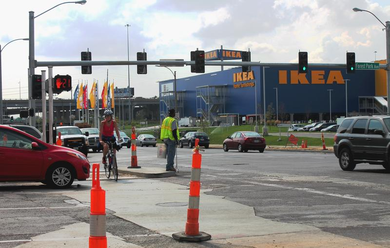 The intersection at Vandeventer and Forest Park Avenue is expected to be a lot busier when the new Ikea opens Wednesday.