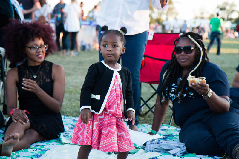 Families brought blankets and spent the day camped out between sets at LouFest 2015
