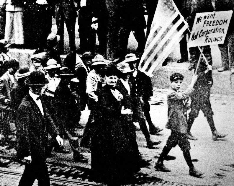 Mother Jones leading a Colorado march.