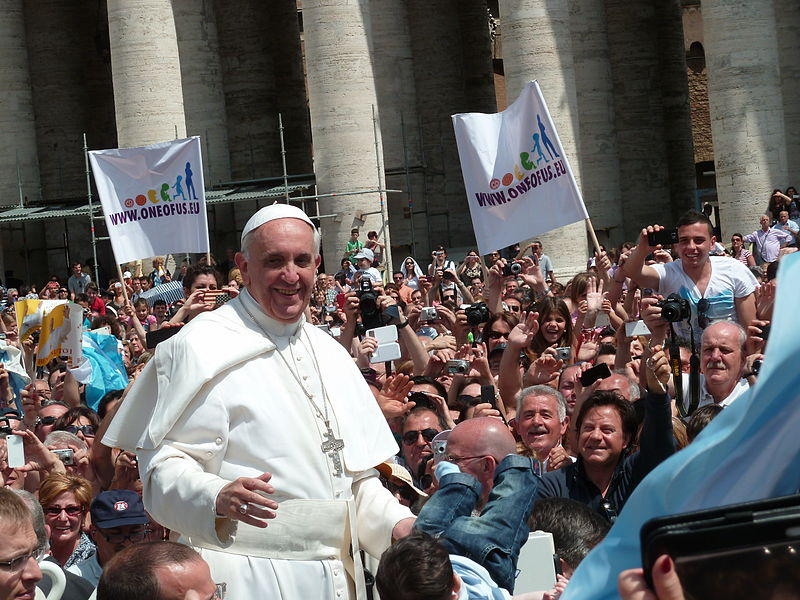 Pope Francis at St. Peter's Square in May 2013