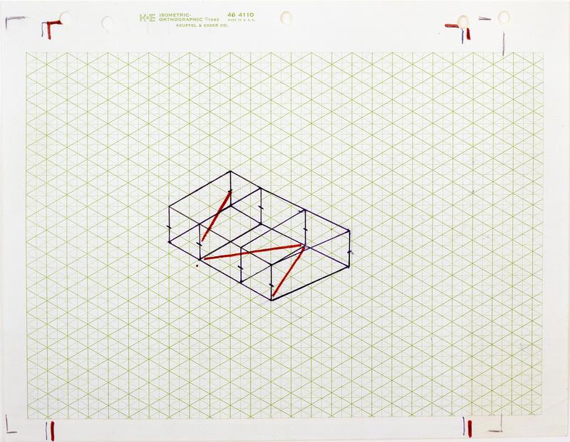 Fred Sandback, Untitled (Study for Kunstraum Munich)