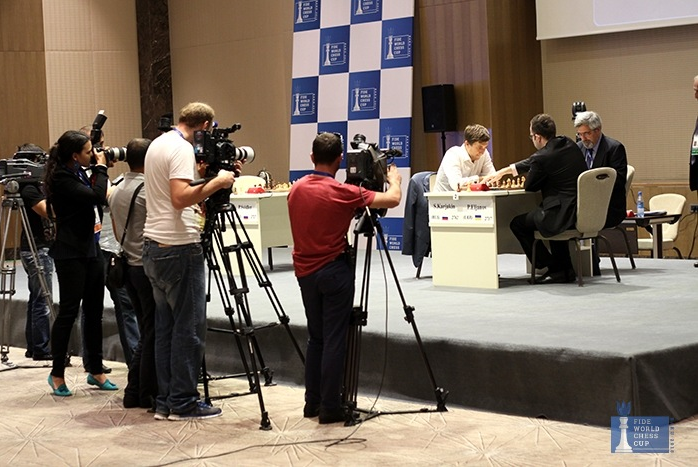 Screen shot from the Baku World Chess Cup