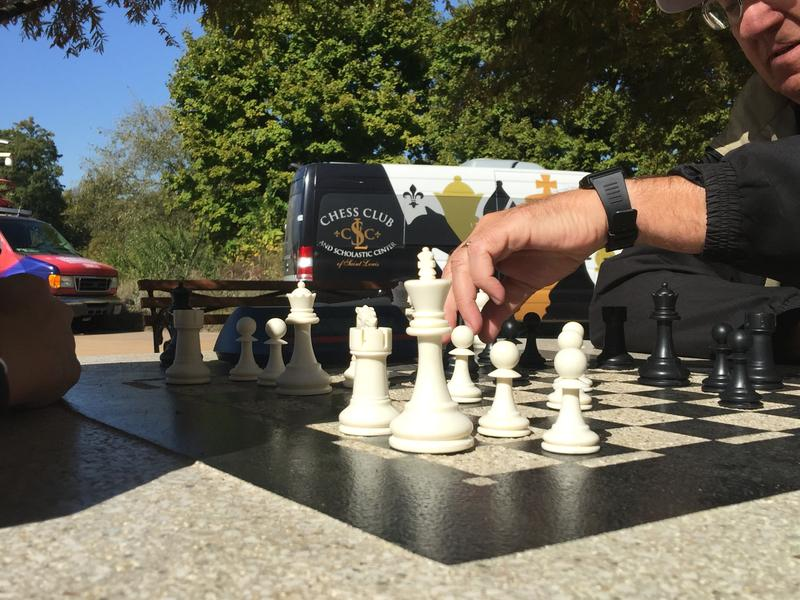 Forest Park Forever and the Chess Club and Scholastic Center of Saint Louis open a new outdoor playing area