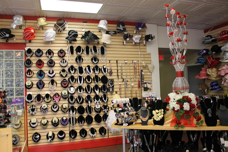 Jewelry and other accessories line a wall at the new Fashions R Boutique.