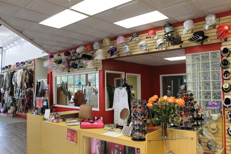 Hats have their own display area in Juanita Morris' new Fashions R Boutique, which recently reopened.