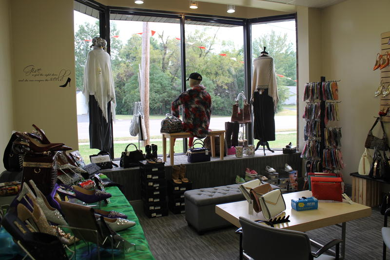 The new Fashions R Boutique has a room just for shoes and accessories.