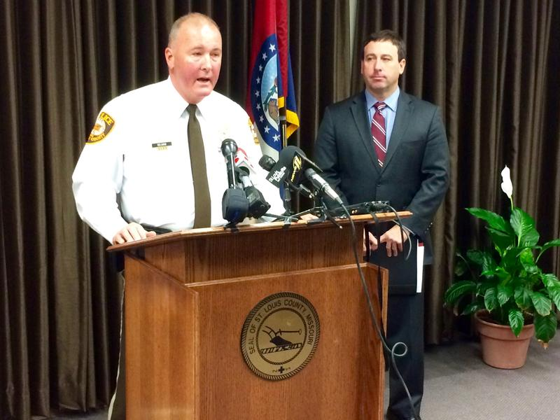 St. Louis Police Chief Jon Belmar joined Stenger on Wednesday in announcing the minimum standards proposal.