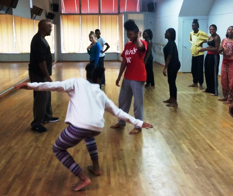 St. Louis Dancers Step-Up co-founder Keith Williams works with performers for Dance Speaks Volume I.