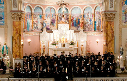 The Bach Society of St. Louis at a previous concert at St. Stanislaus Kostka Church