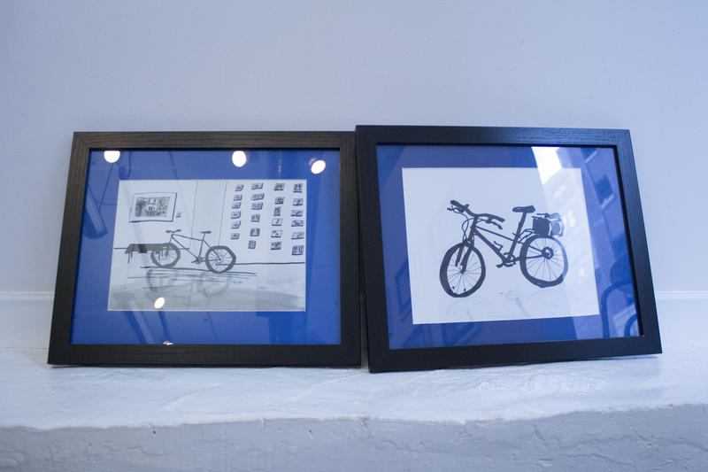 One set of drawings up for sale at 10th Street Gallery