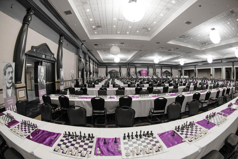 Tournament hall from the 2014 Millionaire Chess tournament.