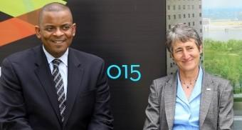 300 pixels Department of Transportation Secretary Anthony Foxx and Department of Interior Secretary Sally Jewell took part in Friday's ceremony.