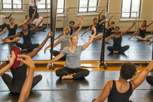 A dance class at Grand Center Arts Academy