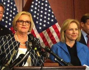 Sen. Claire McCaskill, D-Mo., and Sen. Kirsten Gillibrand, D-N.Y.