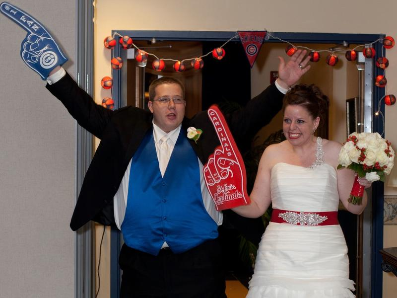 At their 2013 wedding, Bob and Jackie McNett displayed their baseball loyalty.