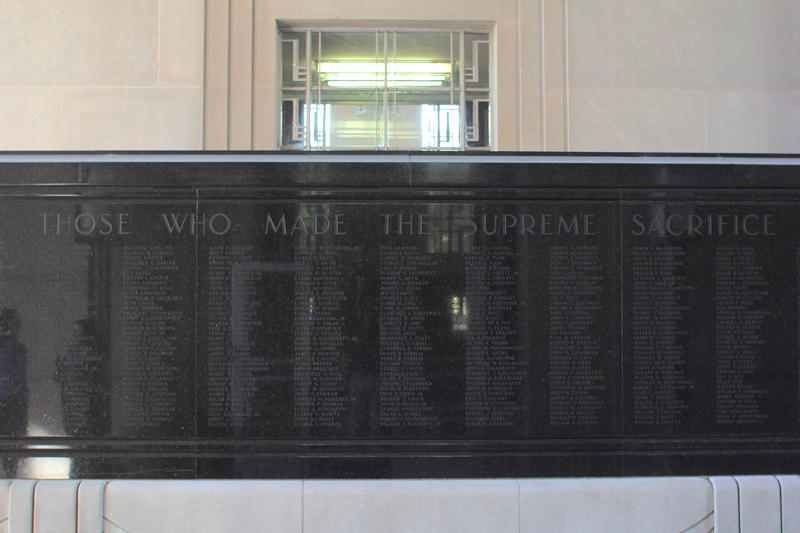 The memorial is in honor of 'Those Who Made The Supreme Sacrifice'