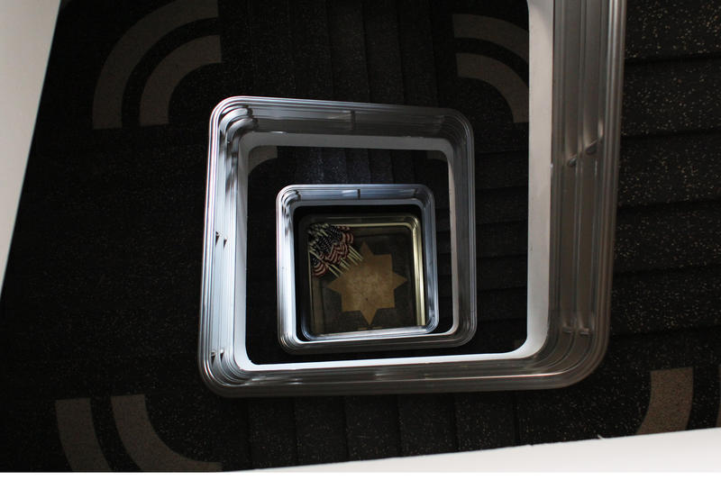 The top level of soldier's memorial is reachable by stairs and elevator.
