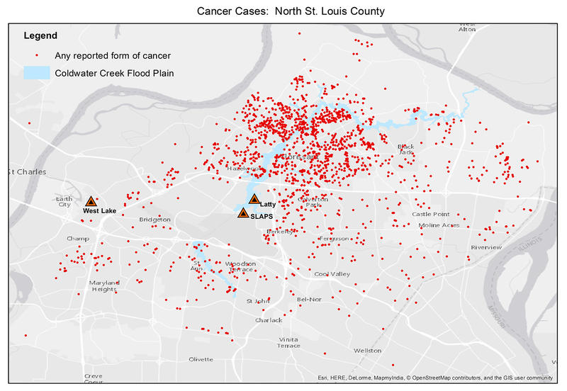 Using an online survey, the Coldwater Creek Facebook group has been collecting information on illnesses in the communities around the creek. Close to 2,000 cases of cancer have been reported.