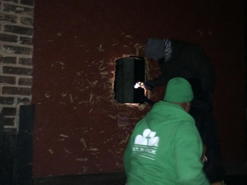 Volunteers led by the St. Patrick Center look for homeless people during the Point In Time Count in the city of St. Louis in January 2015.