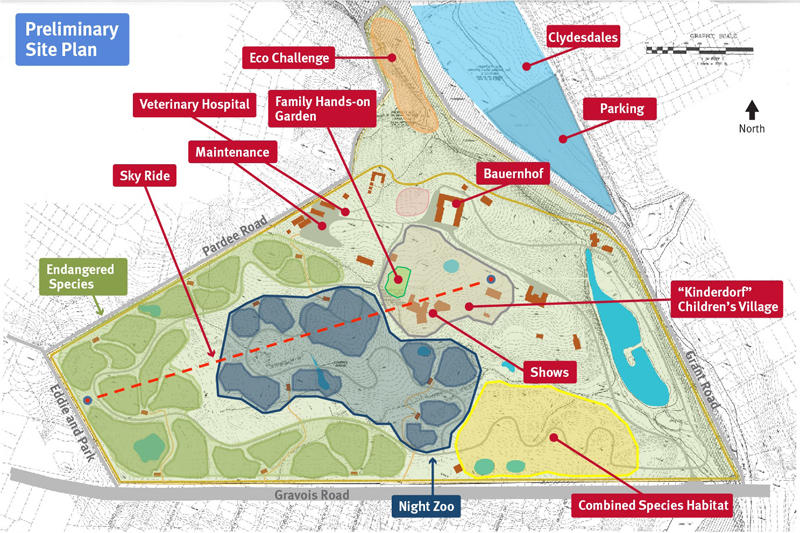 The Zoo's preliminary site plan for Grant's Farm