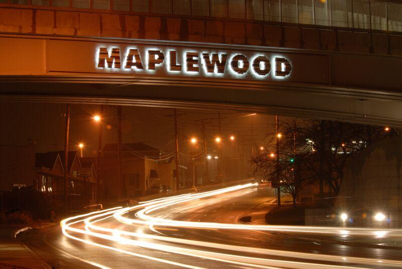 The left-to-right Maplewood can be seen by driving into the city.