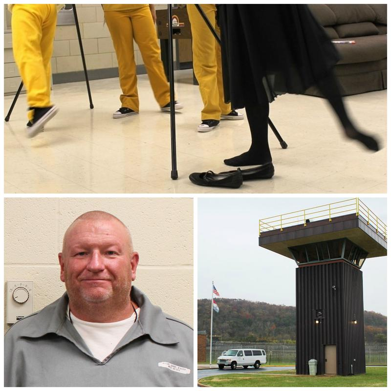 Ballet class at St. Louis' Juvenile Detention Center, Daniel Blount aka Orange Crush and guard tower at Missouri Eastern Correctional Center in Pacific