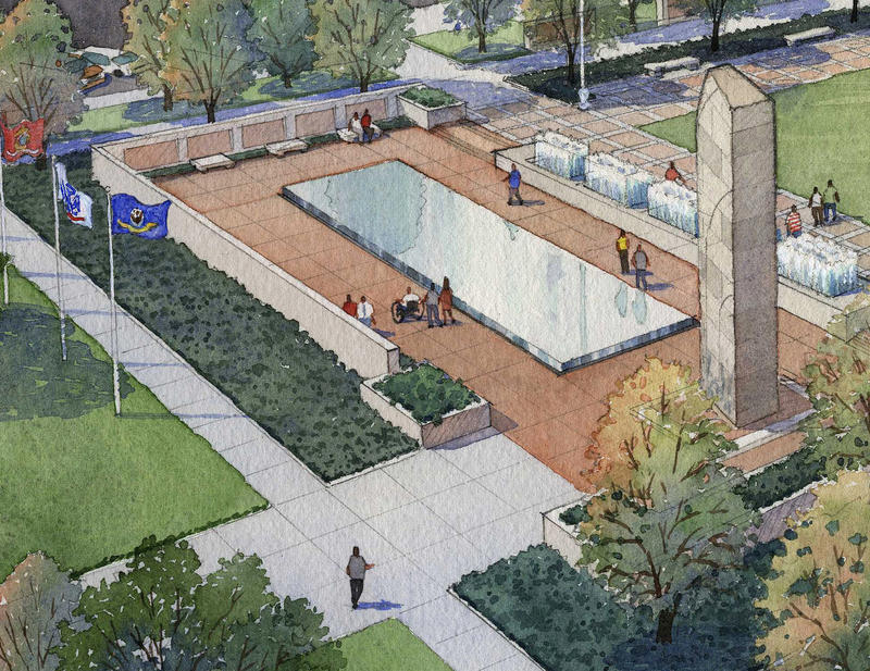 Court of Honor Rendering of Proposed Fountains and Monuments