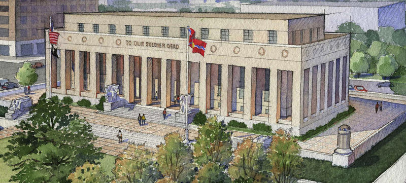 Exterior Rendering of Proposed Renovations