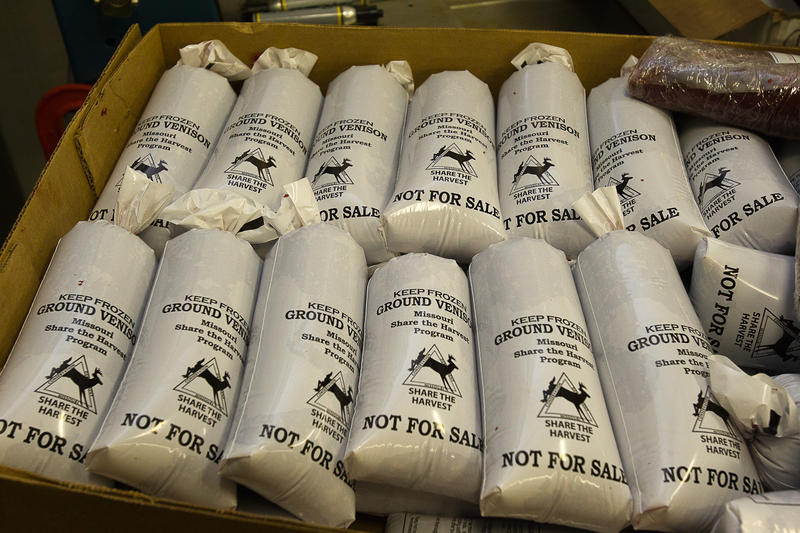 Ground venison donated by Missouri hunters is ready to be distributed to Operation Food Search's 250 partner organizations and needy families in the region.
