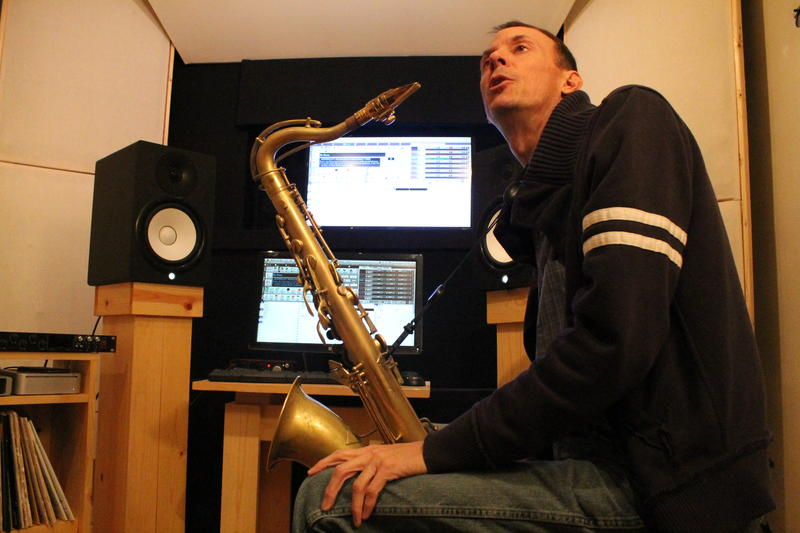 When Christopher Braig isn't playing a saxophone, the computer often becomes his instrument.
