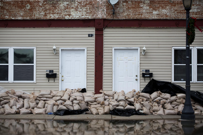 Volunteers spent three days filling sandbags for residents and business owners in Pacific.