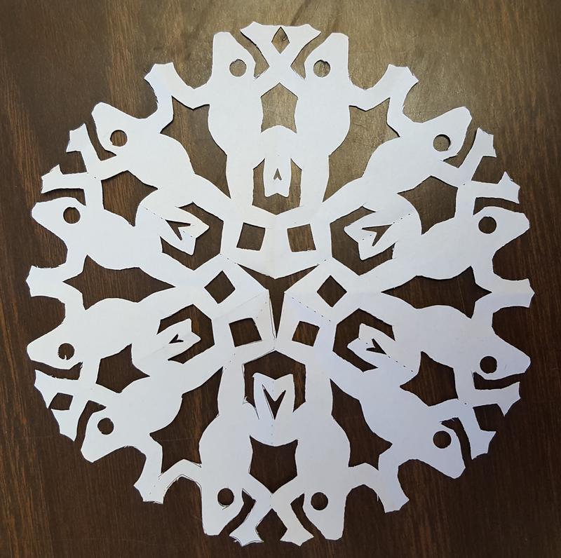 A frog snowflake.