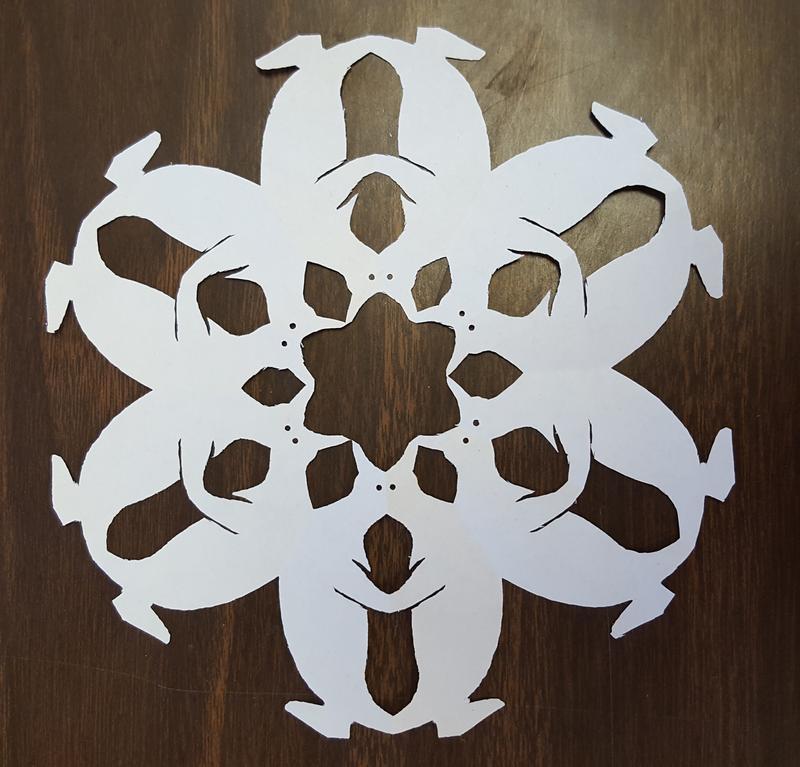 A penguin snowflake.
